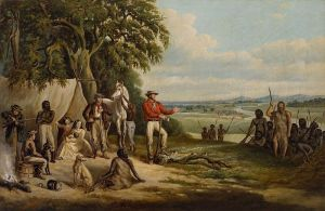 The First Settlers Discover Buckley (1861) by FW Woodhouse